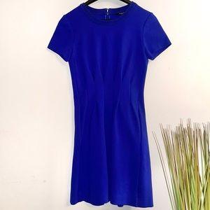 Madewell royal blue short sleeved dress
